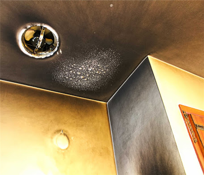 Visible smoke damage in a residential home.