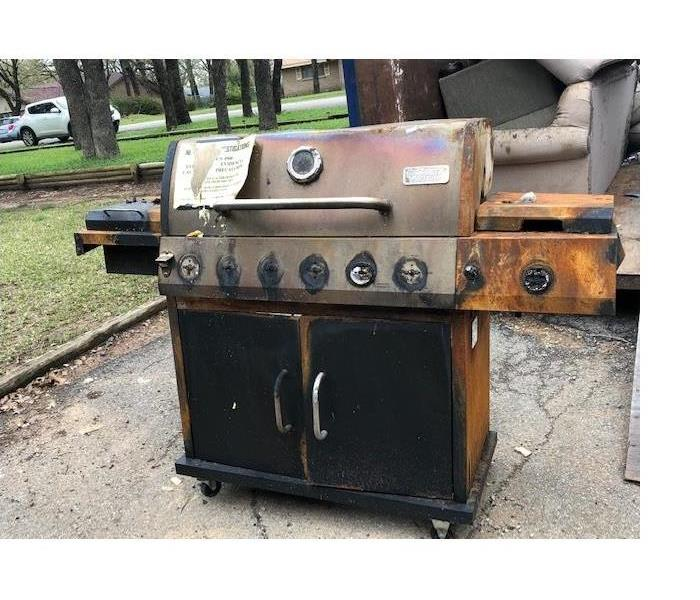 This grill caught fire at a home in Mineral Wells